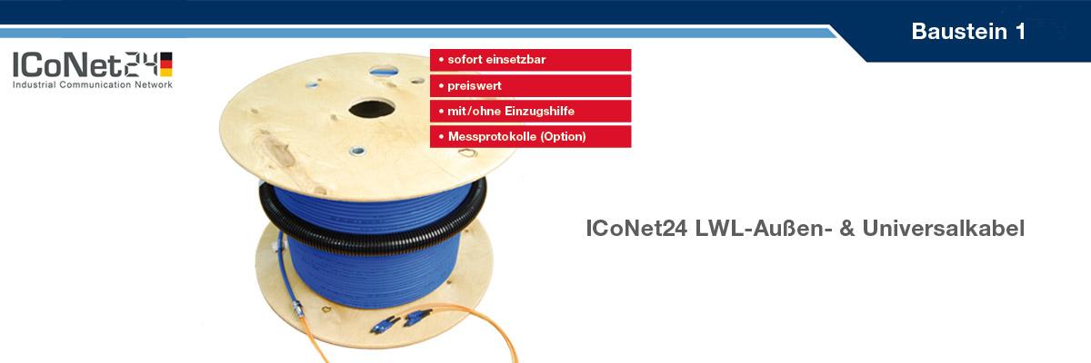 ICS24, Kabel-Konfektion, Netzwerktechnik, Netzwerkkomponenten, Sicherheitstechnik, ICoNet24, Baustein 1