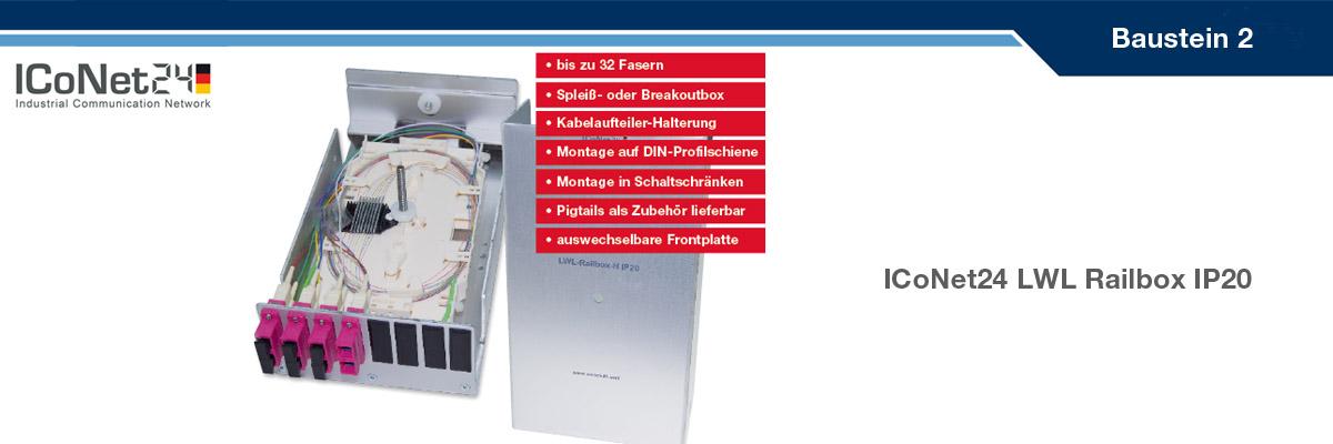 ICS24, Kabel-Konfektion, Netzwerktechnik, Netzwerkkomponenten, Sicherheitstechnik, ICoNet24, Railbox